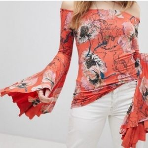 NWT Free People Printed Birds Of Paradise Top